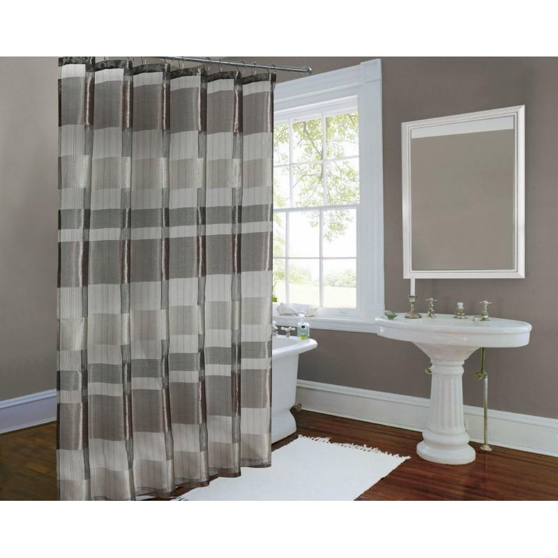 Metallic Stripe Shower Curtain Bronze ...