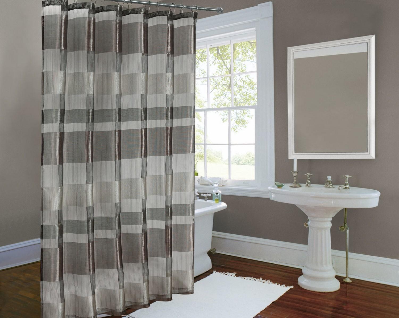 Gray shower curtain fabric - Gray Shower Curtain Grey And White Striped Shower Curtain Striped Shower Curtain Gray Window Curtains